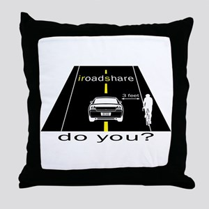 iRoadShare for Cyclists Throw Pillow