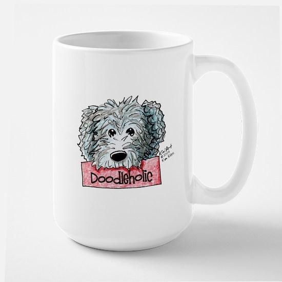 Doodleholic Gray Dood Large Mug