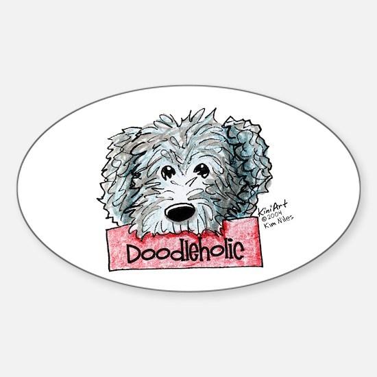 Doodleholic Gray Dood Sticker (Oval)