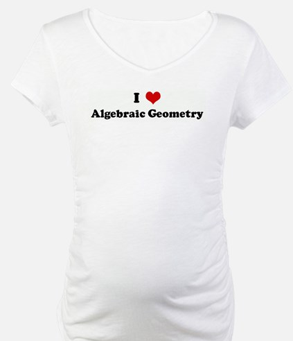 I Love Algebraic Geometry Shirt