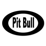 Pit Bull Oval Sticker