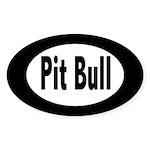 Pit Bull Oval Sticker (50 pk)