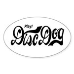 Play! Disc Dog Oval Sticker (10 pk)