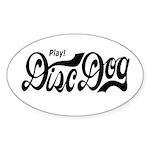 Play! Disc Dog Oval Sticker (50 pk)