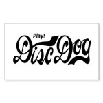 Play! Disc Dog Rectangle Sticker 10 pk)