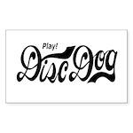 Play! Disc Dog Rectangle Sticker 10 pk)