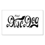 Play! Disc Dog Rectangle Sticker 50 pk)