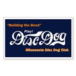 MN DiscDog Club Rectangle Sticker