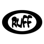 Ruff Oval Sticker