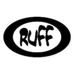 Ruff Oval Sticker