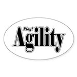 Play Agility Oval Sticker