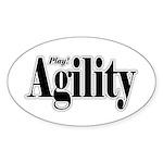 Play Agility Oval Sticker