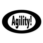 agility! Oval Sticker