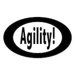 agility! Oval Sticker