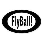 FlyBall! Oval Sticker