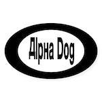 Alpha Dog Oval Sticker