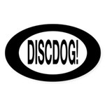 DiscDog! Oval Sticker