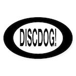 DiscDog! Oval Sticker