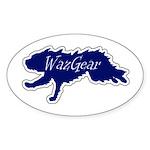 Wazgear Faster logo Oval Sticker