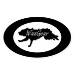 Discdogger Oval Sticker (50 pk)