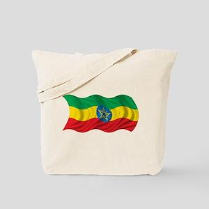 Wavy Ethiopia Flag Tote Bag