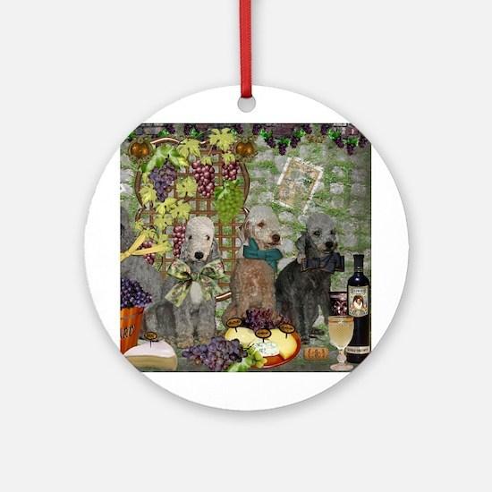 Bedlington Terrier Winery Ornament (Round)