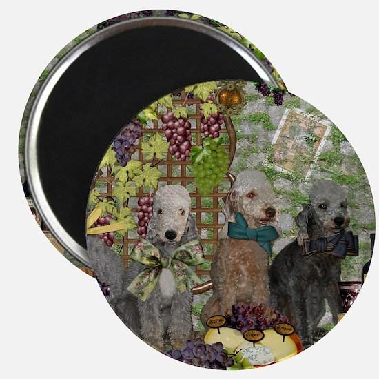 Bedlington Terrier Winery Magnet