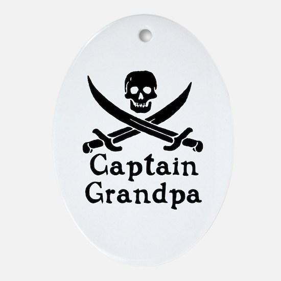 Captain Grandpa Ornament (Oval)