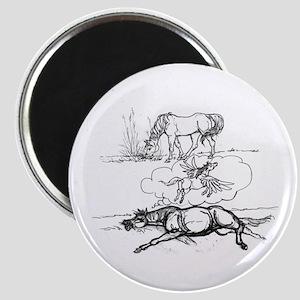 Sleepygrass Horse Magnet