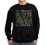 I'm strong in the mirror Sweatshirt (dark)
