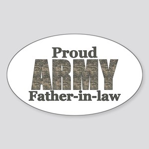 Proud Father-in-law (ACU) Oval Sticker