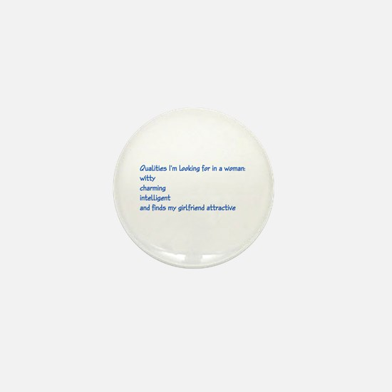qualities in a woman Mini Button