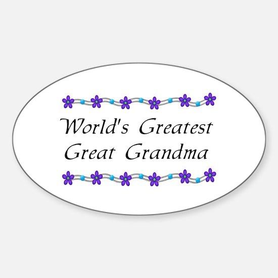 Greatest Great Grandma Oval Decal