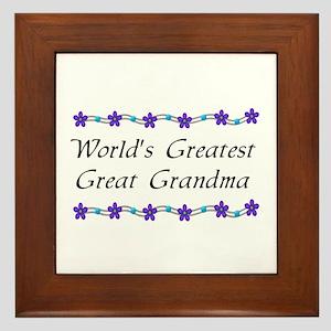 Greatest Great Grandma Framed Tile