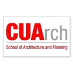 CUArch Rectangle Sticker
