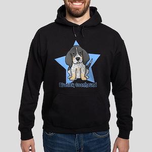 Star Kawaii Bluetick Coonhound Hoodie (dark)