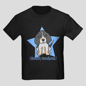Star Kawaii Bluetick Coonhound Kids Dark T-Shirt