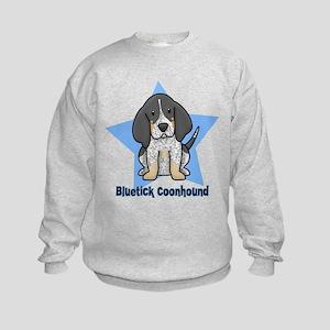 Star Kawaii Bluetick Coonhound Kids Sweatshirt