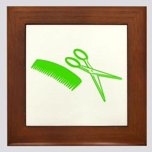 Comb & Scissors - Hairdresser Framed Tile