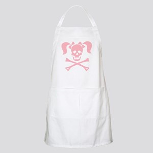Skull & Cross Bones Pigtails & Bow BBQ Apron