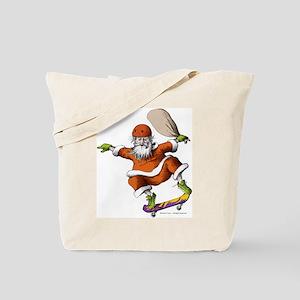 Skateboarding Santa Tote Bag
