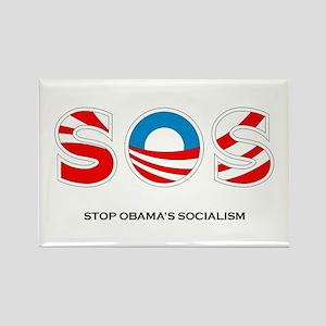 Stop Obama's Socialism Rectangle Magnet