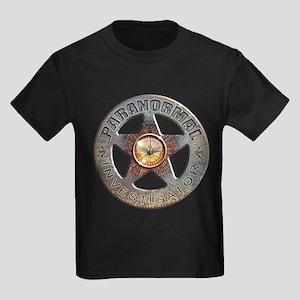 Paranormal Investigator Kids Dark T-Shirt