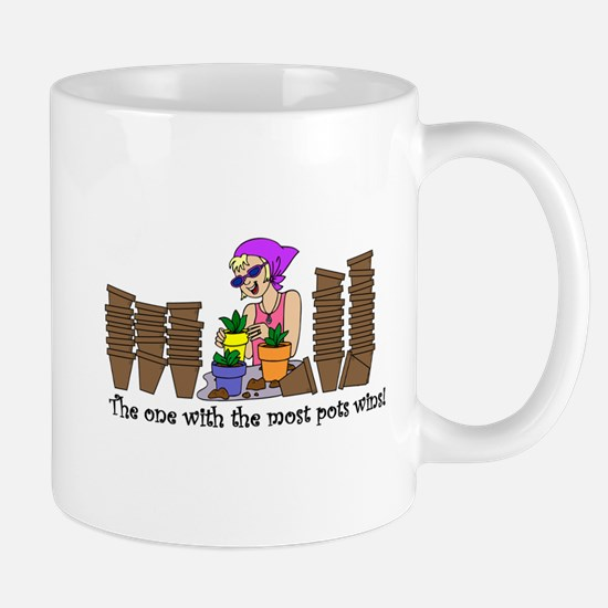 One With Most Pots Wins! Mug