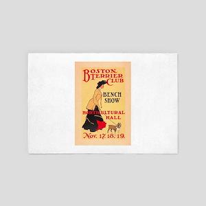 Vintage Poster - Boston Terrier Club - 4' x 6' Rug