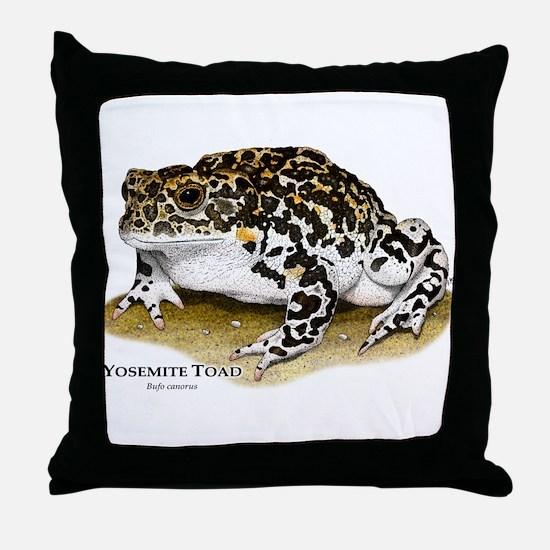 Yosemite Toad Throw Pillow