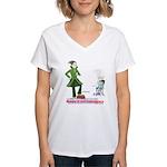 Beware of Anti-Grammarians Women's V-Neck T-Shirt