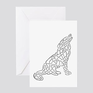 knotwork wolf Greeting Card