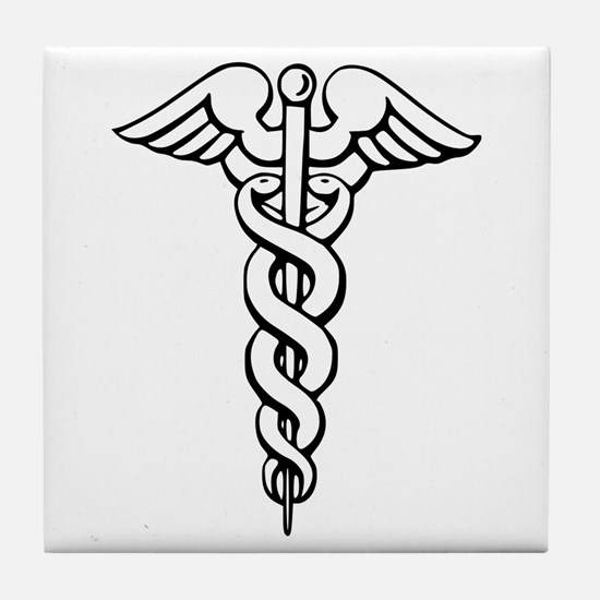 Caduceus Tile Coaster