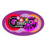 Mad About Amsterdam Oval Sticker